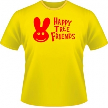 Футболка Happy Tree friends Желтый цвет