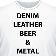 �������� Denim Leather beer metal