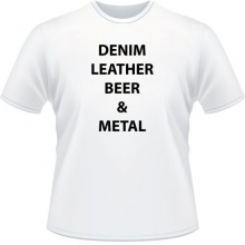 Футболка Denim Leather beer metal Белый цвет